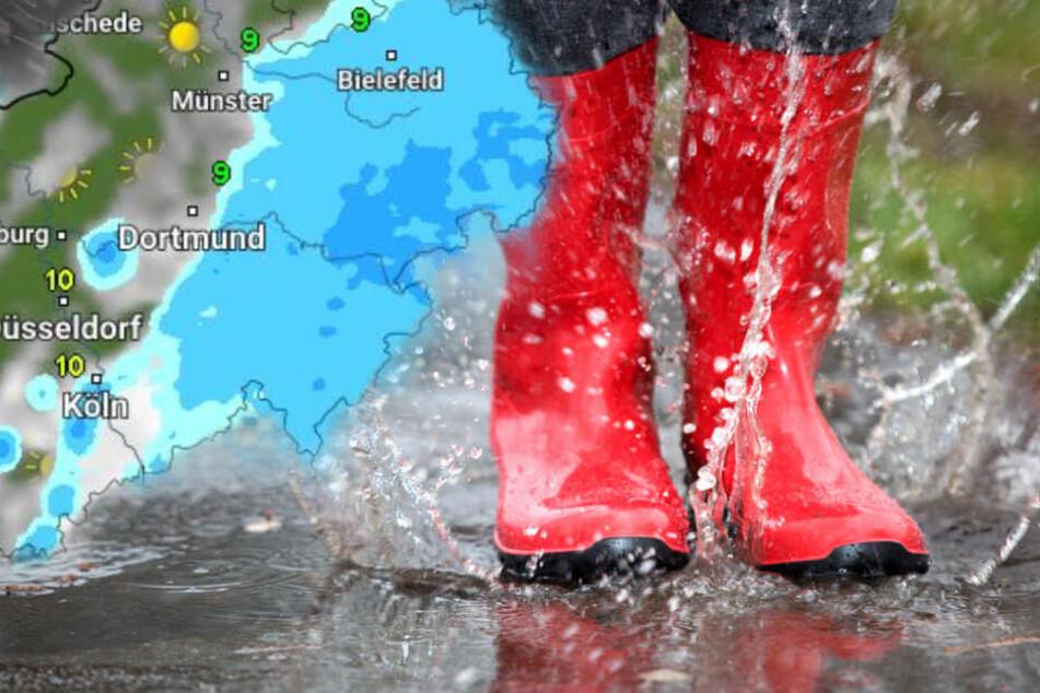 Erst am Sonntag wird es in weiten Teilen von NRW freundlicher. (Symbolbild)