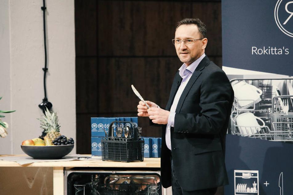 Oliver Rokitta stellt seine Innovation bei der Höhle der Löwen vor
