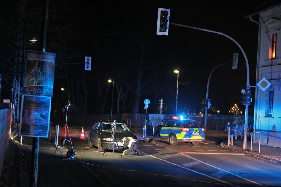 An der Ampelkreuzung Hohensteiner Straße / Chemnitzer Straße in Lugau passierte der Unfall.