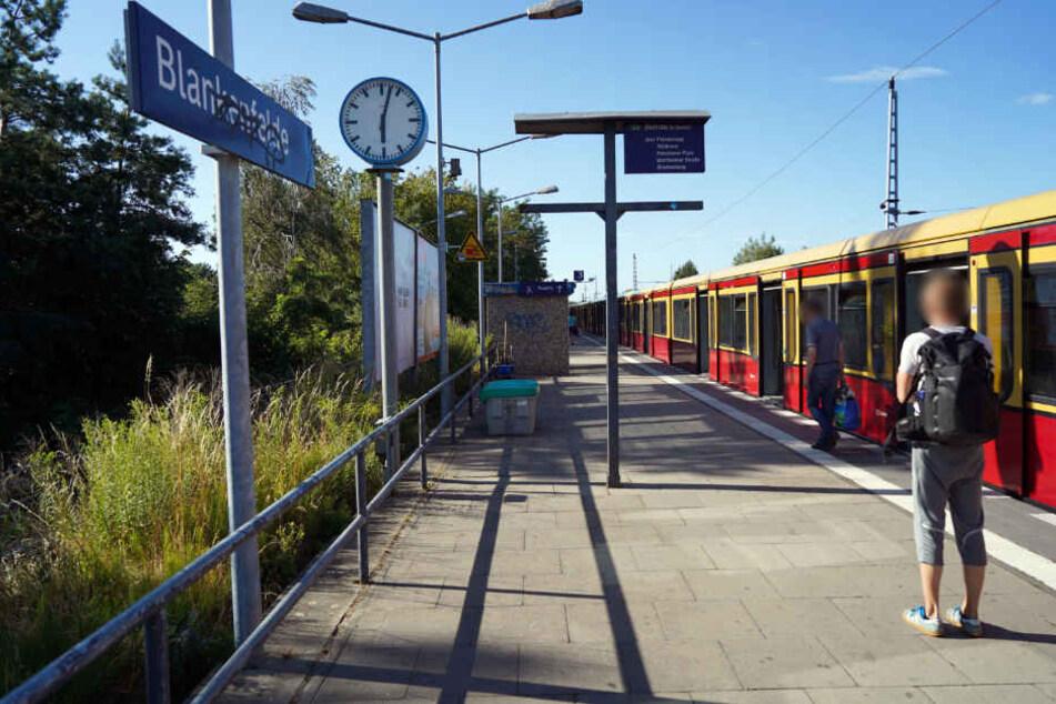 Eine S-Bahn steht am S-Bahnhof. Ein Unbekannter hat am Bahnhof Passanten mit einer Schreckschusspistole bedroht.