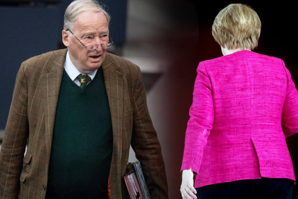 Laut Alexander Gauland hat seine Partei zu einem Machtverlust von Angela Merkel in der CDU beigetragen.