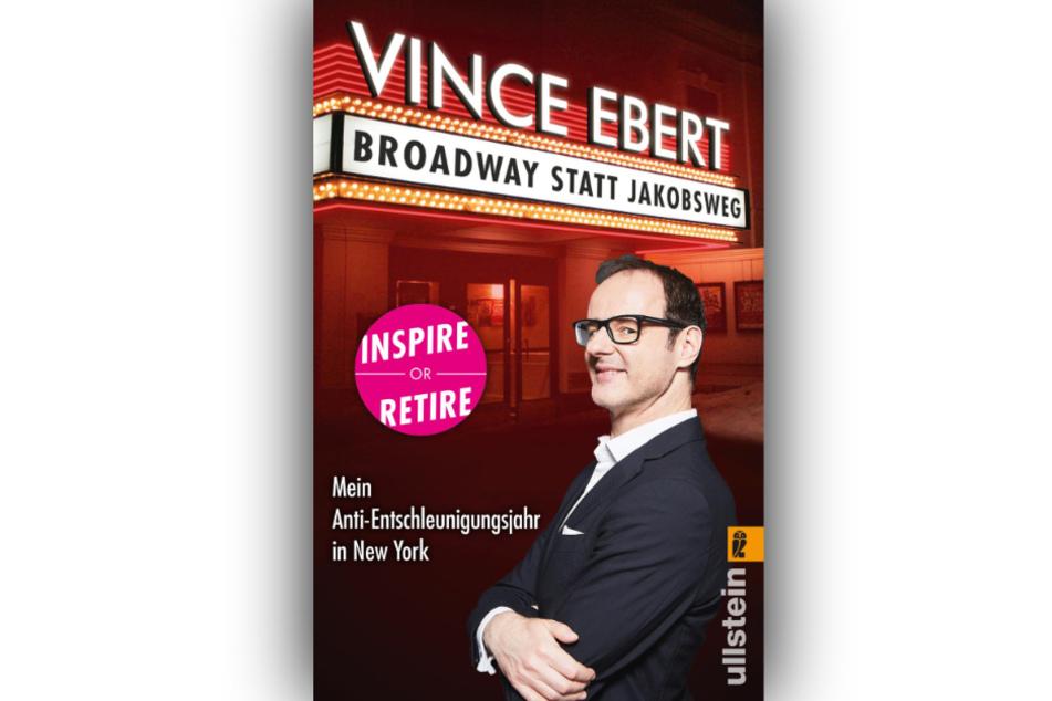 """Cover des Buches """"Broadway statt Jakobsweg"""" von Comedian Vince Ebert (undatierte Aufnahme). Darin entdeckt der Komiker im Big Apple, dass es ein Leben nach 50 gibt."""