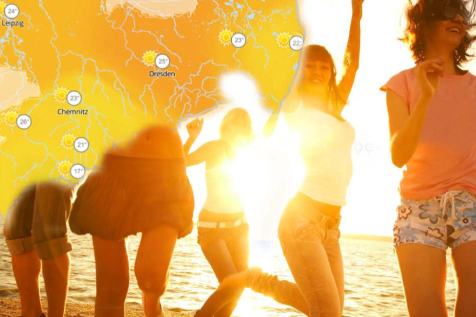 Das Wochenende holt nochmal alles raus: In Sachsen, Sachsen-Anhalt und Thüringen werden bis zu 28 Grad erwartet! (Symbolbild)