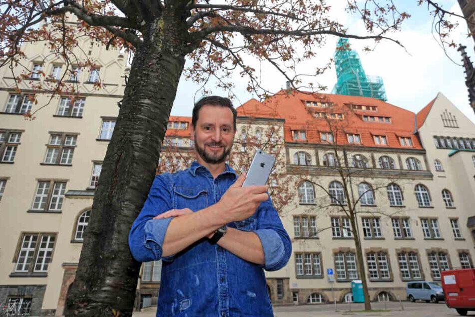 André Donath (52) will mit der Foto-Challenge das Image der Innenstadt  aufpolieren.