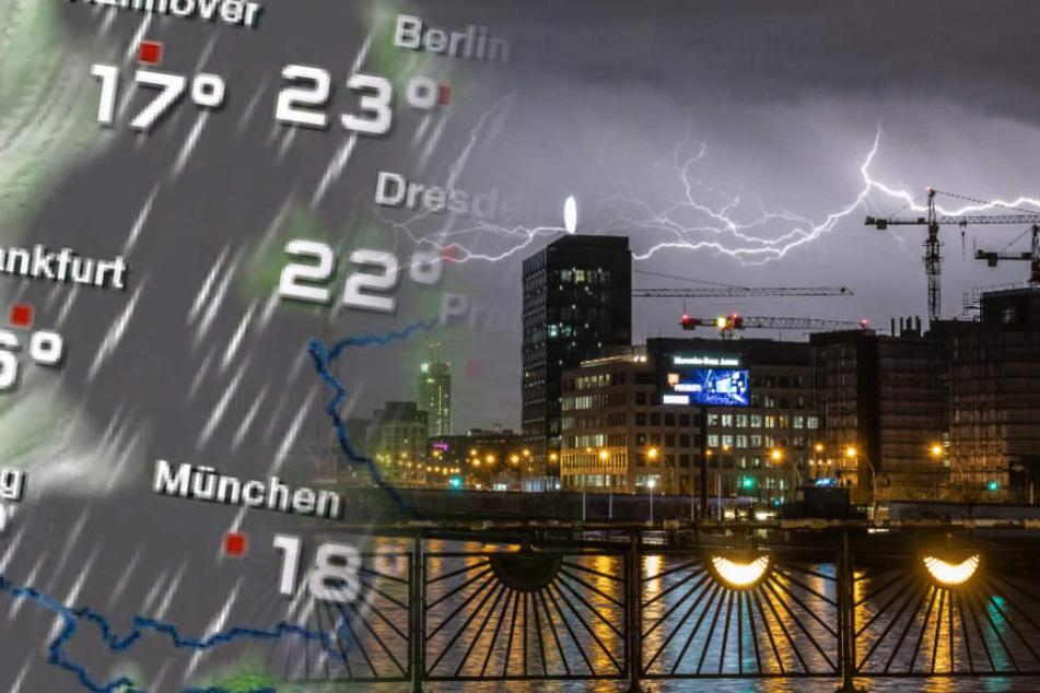 Vor allem am Mittwoch und Donnerstag drohen Berlin heftige Wärmegewitter.
