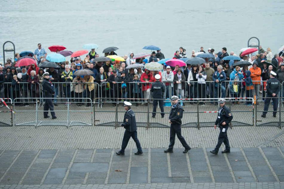 Über 4000 Polizisten sorgten für Sicherheit.