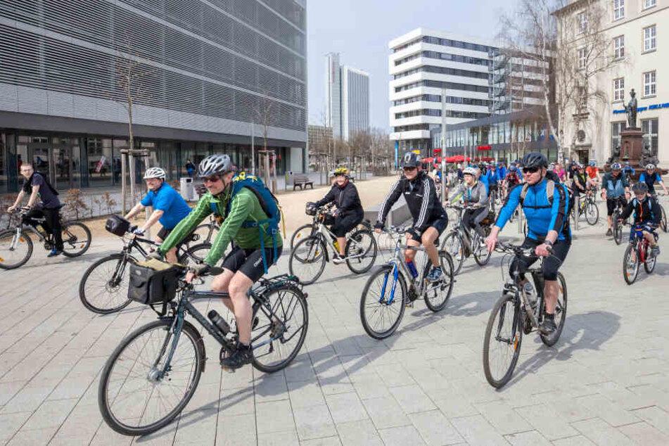 """Durch die Kampagne """"Stadtradeln"""" sollen mehr Leute in Chemnitz aufs Rad gebracht werden."""