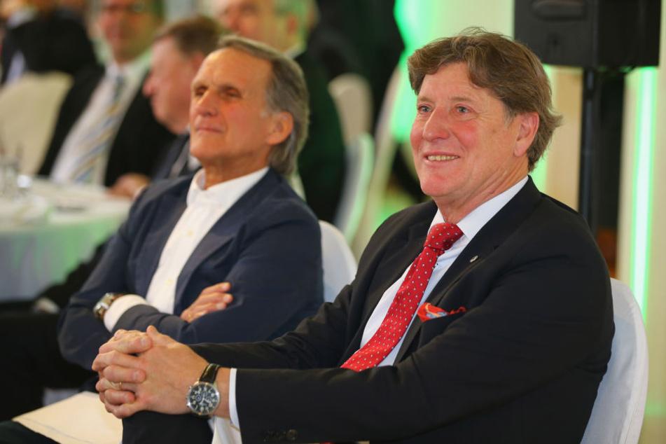 Zwei FC-Idole: Wolfgang Overath und Toni Schumacher