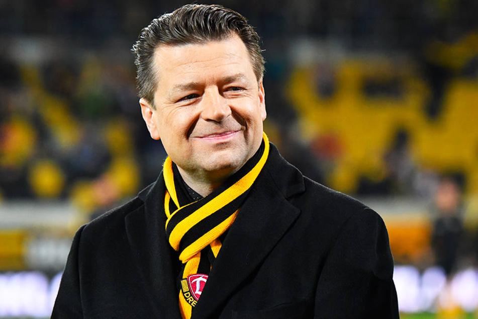 Dynamos Übergangspräsident Holger Scholze wird die Mitgliederversammlung eröffnen.