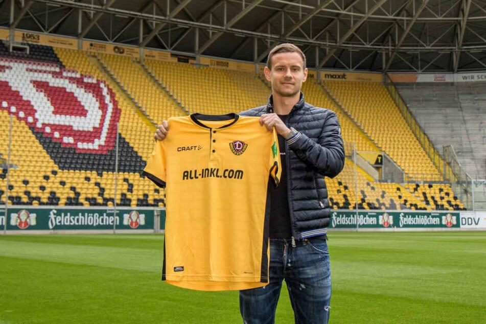 In den kommenden drei Jahren wird der gebürtige Plauener Chris Löwe das Trikot von Dynamo tragen.