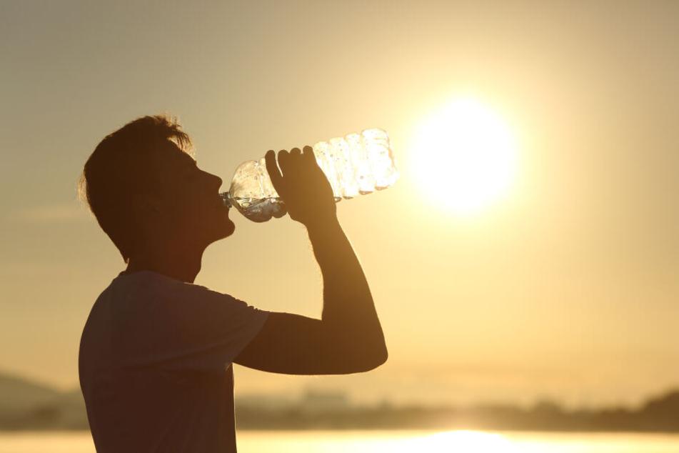Wichtig bei diesen Temperaturen: Gaaaaanz viel trinken!