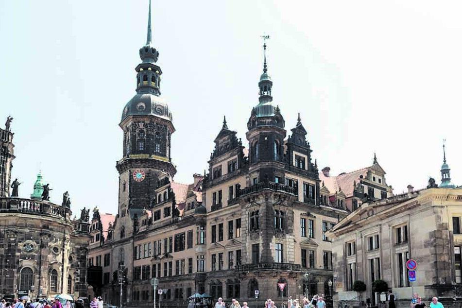 Das Dresdner Residenzschloss.