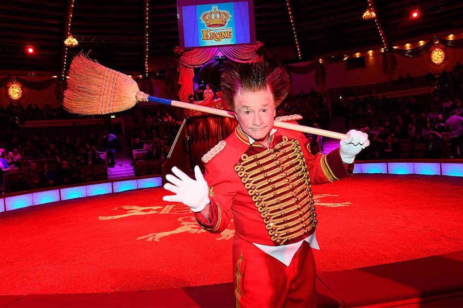 Wird die Zuschauer des 23. Dresdner Weihnachts-Circus zum Lachen bringen: Clown Fumagalli (61).