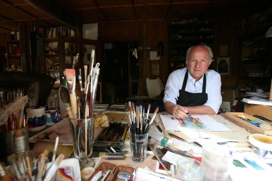 Als junger Mann wollte Hipp Maler werden - bis heute ist die Malerei eines seiner Hobbys.