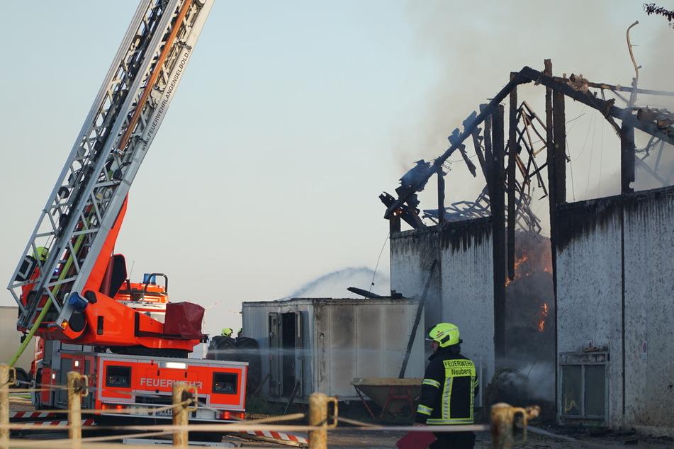 Die Halle war aufgrund des verursachten Schadens stark einsturzgefährdet.