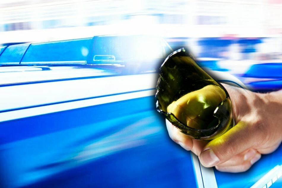 Mit einer kaputten Bierflasche wurde ein Mann in Plauen verletzt. (Symbolbild)