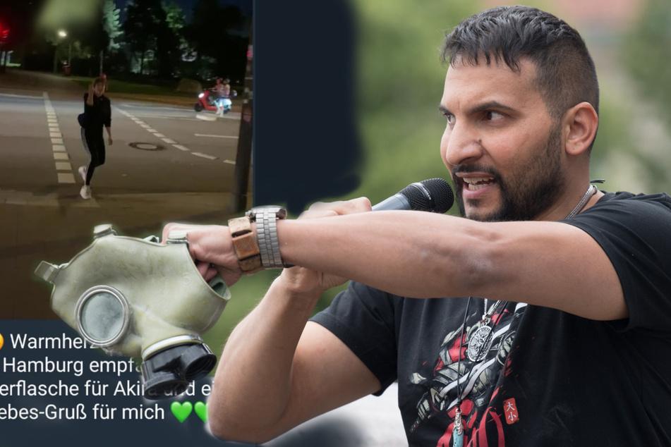 Polizeieinsatz! Atilla Hildmann besucht Hamburg und wird wüst beschimpft