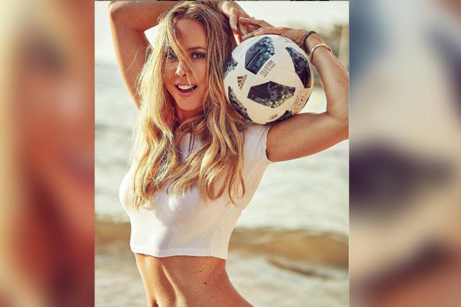 Sylvia Walker heizt den Fußball-Fans zum Saisonauftakt ordentlich ein.