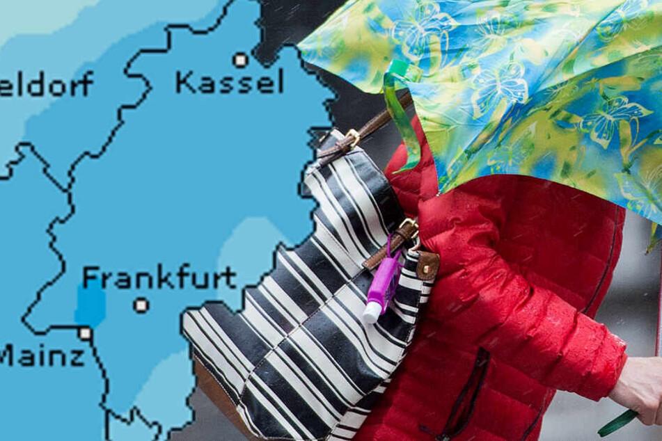 Eine hohes Niederschlagsrisiko und kalte Temperaturen: So wird der Samstag in Frankfurt und ganz Hessen.