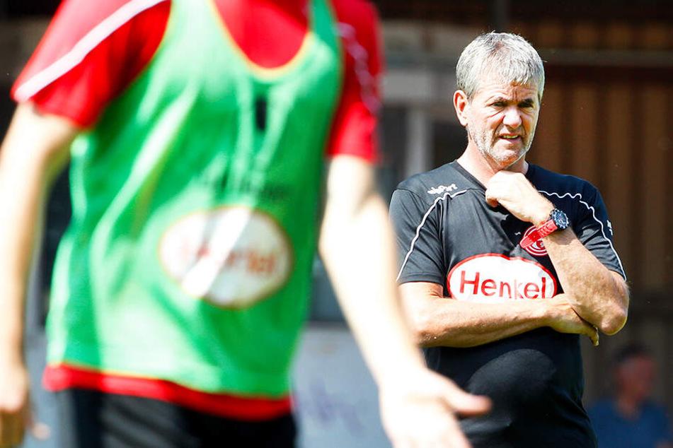 Für F95-Trainer Friedhelm Funkel dürfte der Klassenerhalt das wichtigste Ziel sein.