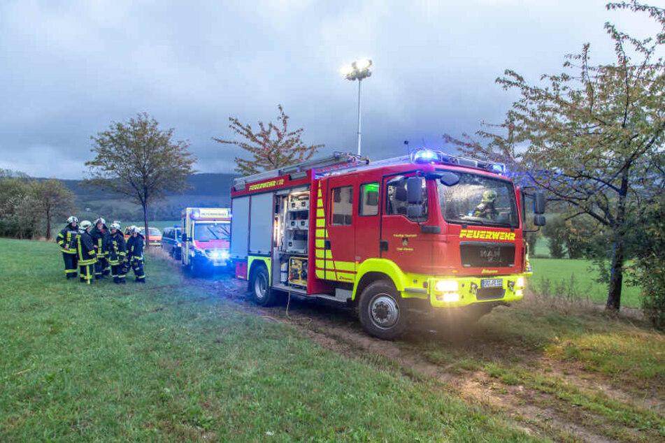 Die Feuerwehr war vor Ort.