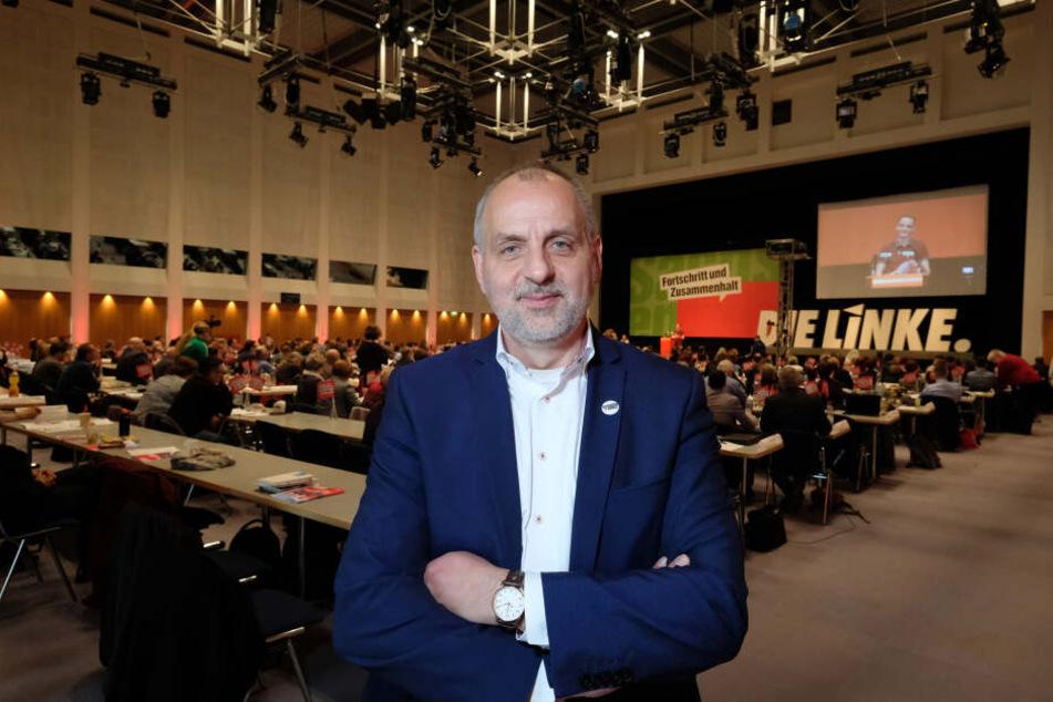 Rico Gebhardt (55) führt die Linke in die Landtagswahl, die im September in Sachsen stattfindet.
