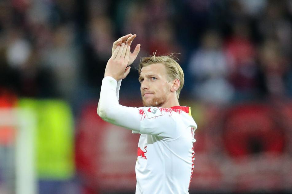 Will am Montag bereits wieder dabei sein: RB Leipzigs Emil Forsberg.