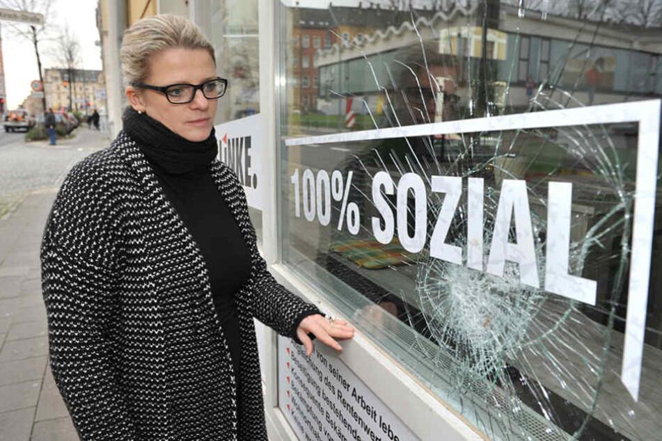 Tatort Chemnitz: Nach zahlreichen Attacken musste Susanne Schaper (Linke) ihr Büro räumen.