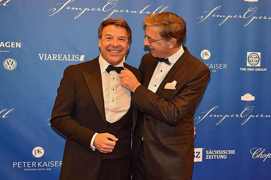 Schlagersänger Patrick Lindner (57, links) und Ehemann.