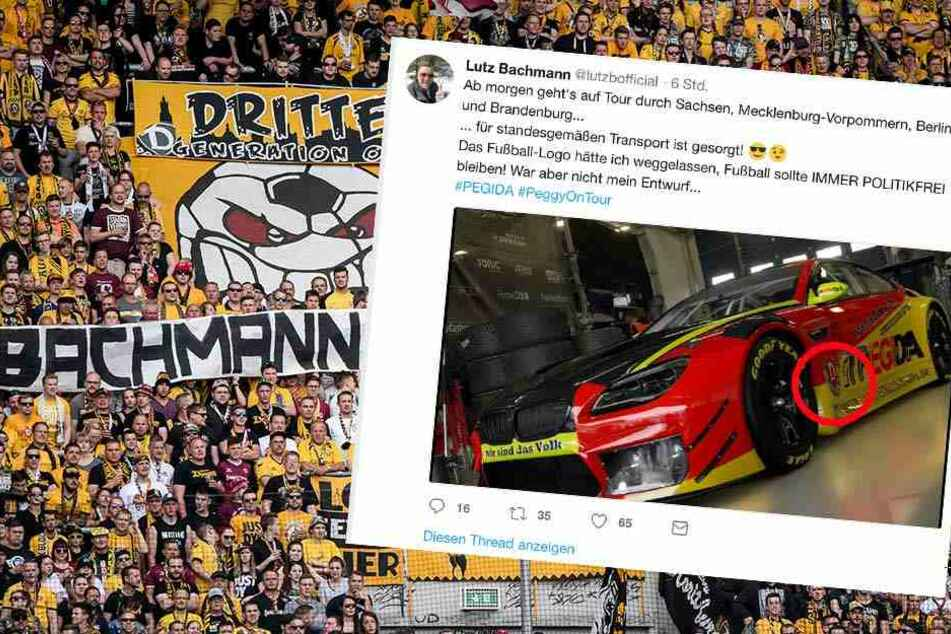 """Dynamo prüft Klage gegen Bachmann! Zoff um Wappen auf angeblichem """"PEGIDA-Auto"""""""