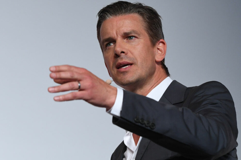 Moderator Markus Lanz während einer Pressekonferenz.