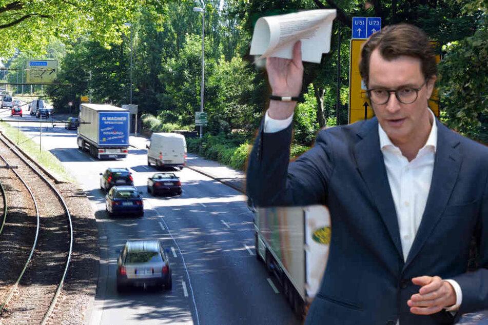 NRW-Verkehrsminister Hendrik Wüst hat klargestellt, dass die Bundesstraßen im Bundesland weiter in der Landesverwaltung bleiben. (Symbolbild)