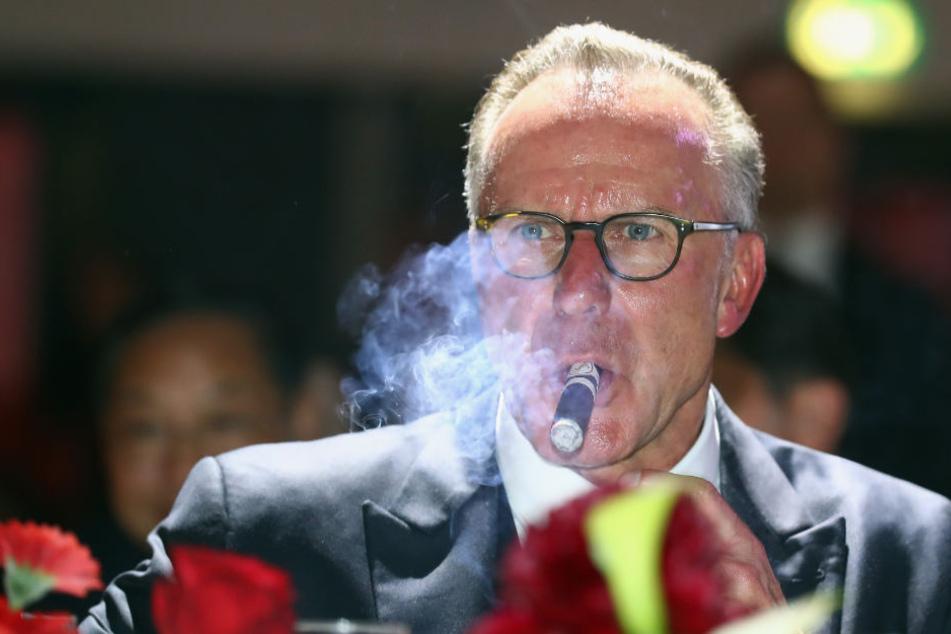 Karl-Heinz Rummenigge ist mit dem Ergebnis zufrieden. (Archiv)