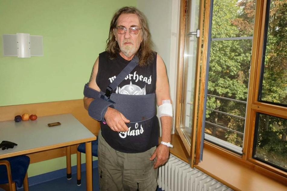 Seines Autos beraubt und überfahren: Hardrock-Fan Bernd. (62) wurde seine Gutmütigkeit zum Verhängnis.