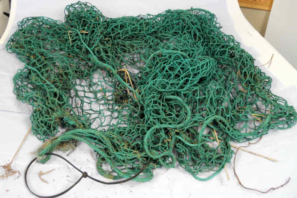 Dieses grüne Netz war um die Füße des toten Rentners Wolfhard Peter L. gebunden.