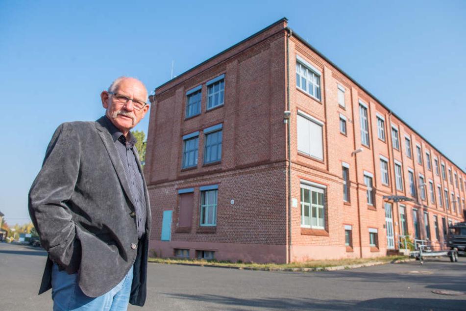 Joachim Kunze (76) packt im Erzgebirge an: Aus diesem Fabrikgebäude soll eine moderne Wohnanlage werden.