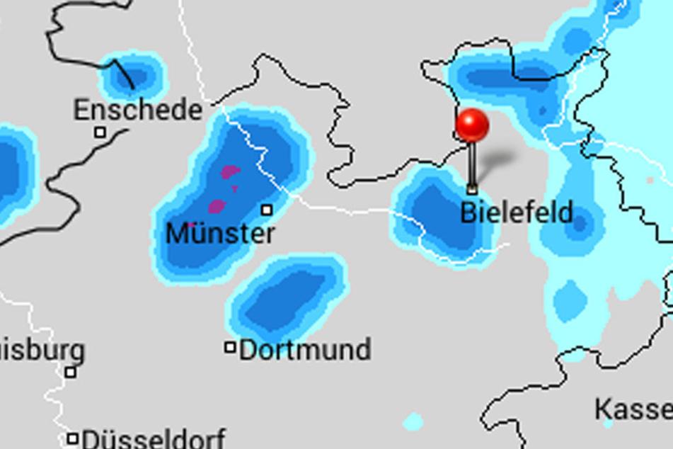 Am Dienstag gibt's ab 19 Uhr jede Menge Regen.