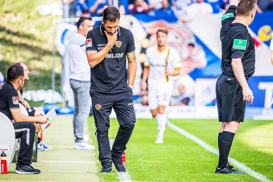 Auch wenn er jede Zweifel von sich schiebt: Während der Partie schien Cristian Fiel dann doch ab und an ins Grübeln zu geraten...