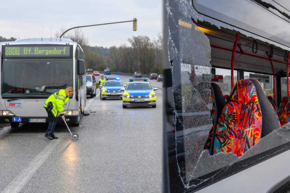 5 Verletzte: Lkw kracht in Linienbus mit 15 Fahrgästen