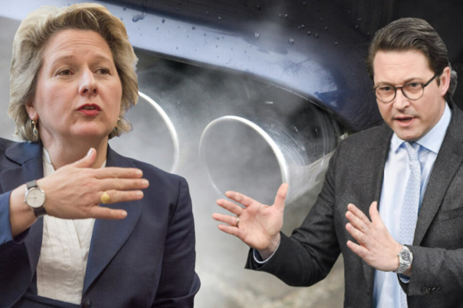 Dicke Luft zwischen den Ministerien von Svenja Schulze (49, Umwelt) und Andreas Scheuer (43, Verkehr). (Bildmontage)