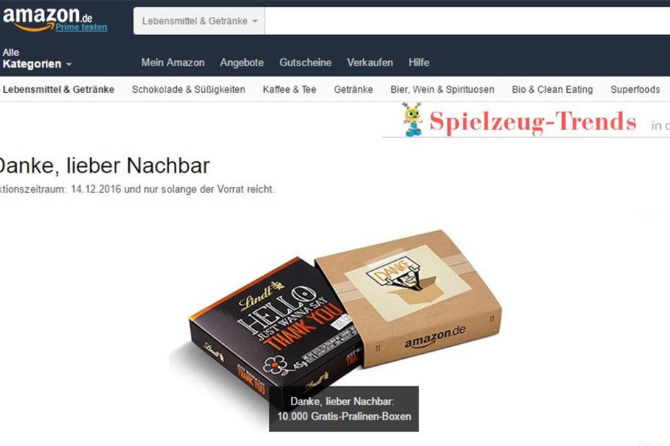 Danke, lieber Paket-Annehmer! Bei Amazon gibt es jetzt Geschenke für Euren Nachbarn.