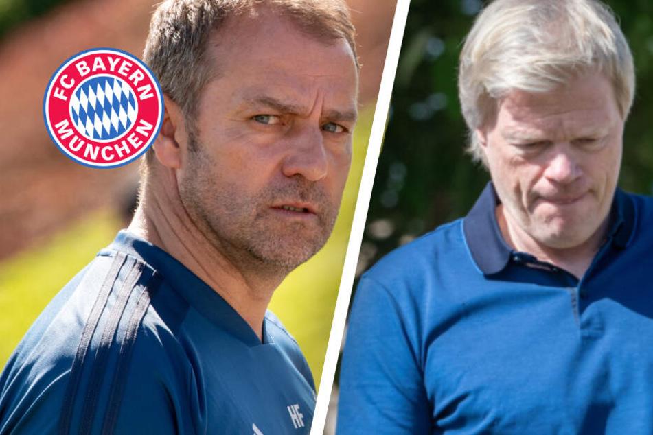 FC Bayern in Doha: Hansi Flick mit Notruf, Oliver Kahn verschafft sich Eindruck