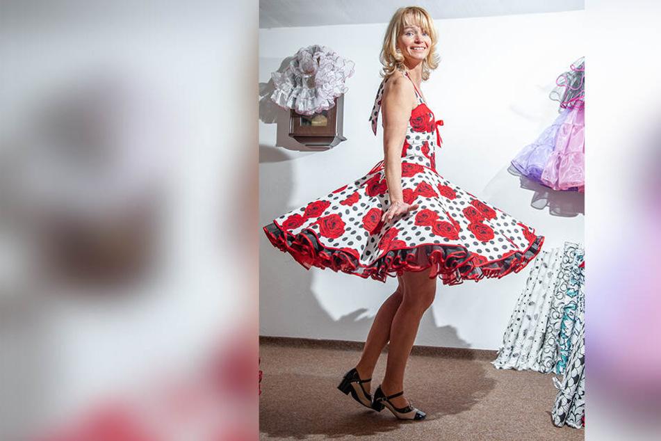 Je schwungvoller die Musik, umso mehr entfalten die Petticoats ihre Pracht.