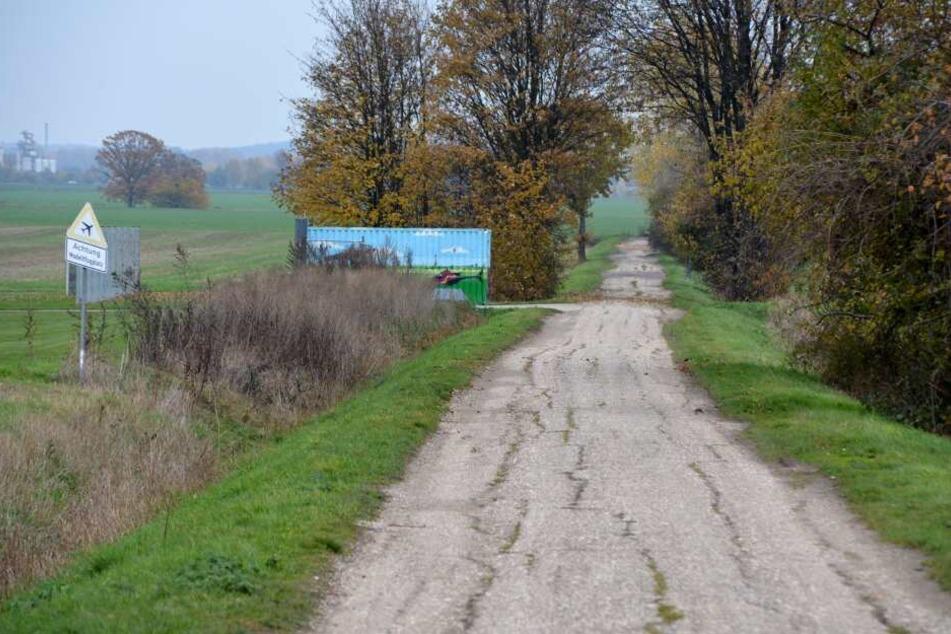 Ein Feldweg zwischen den Leipziger Stadtteilen Holzhausen und Baalsdorf. Hier wurde der tote Waschbär gefunden - nicht der erste an dieser Stelle.
