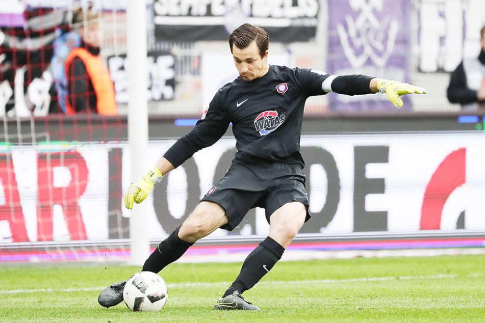 Die Defensive um Martin Männel ließ in Berlin kaum etwas zu. Aue kassierte unter dem neuen Coach kaum Gegentore.