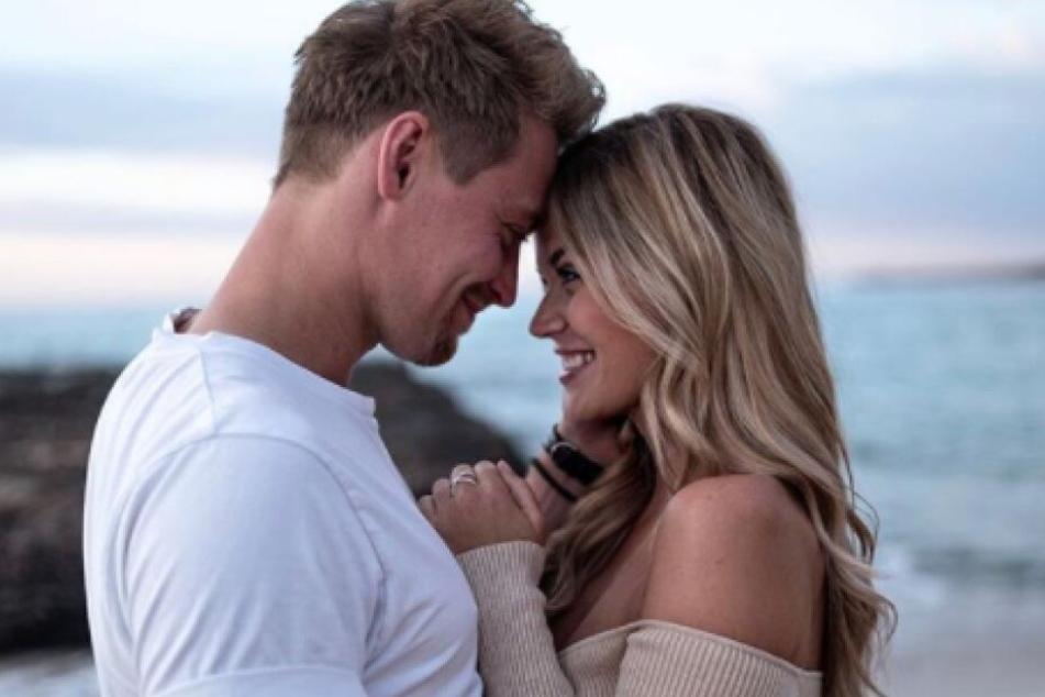 Auf Instagram ist kaum zu übersehen, wie glücklich Nadine mit ihrem Freund Tim ist.