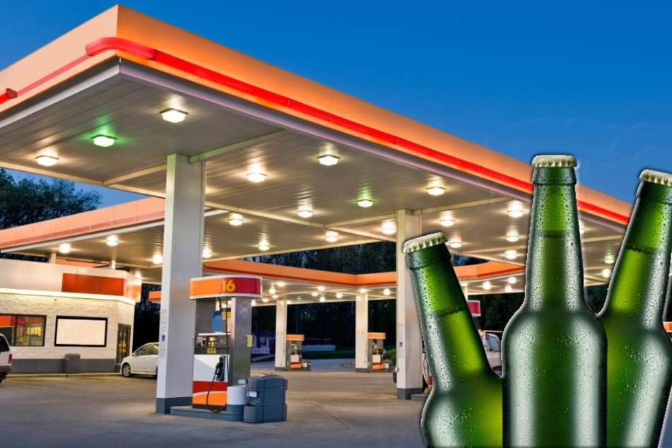 Durstiger Tankstellen-Räuber flieht mit drei Flaschen Bier