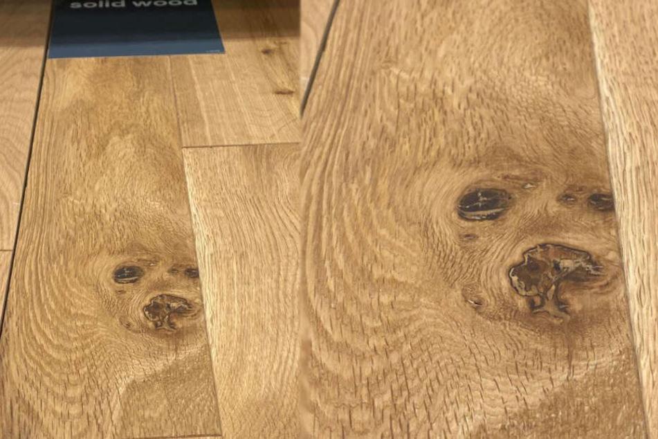 Die Ähnlichkeit von Hund und Bodenplatte ist durchaus erkennbar...