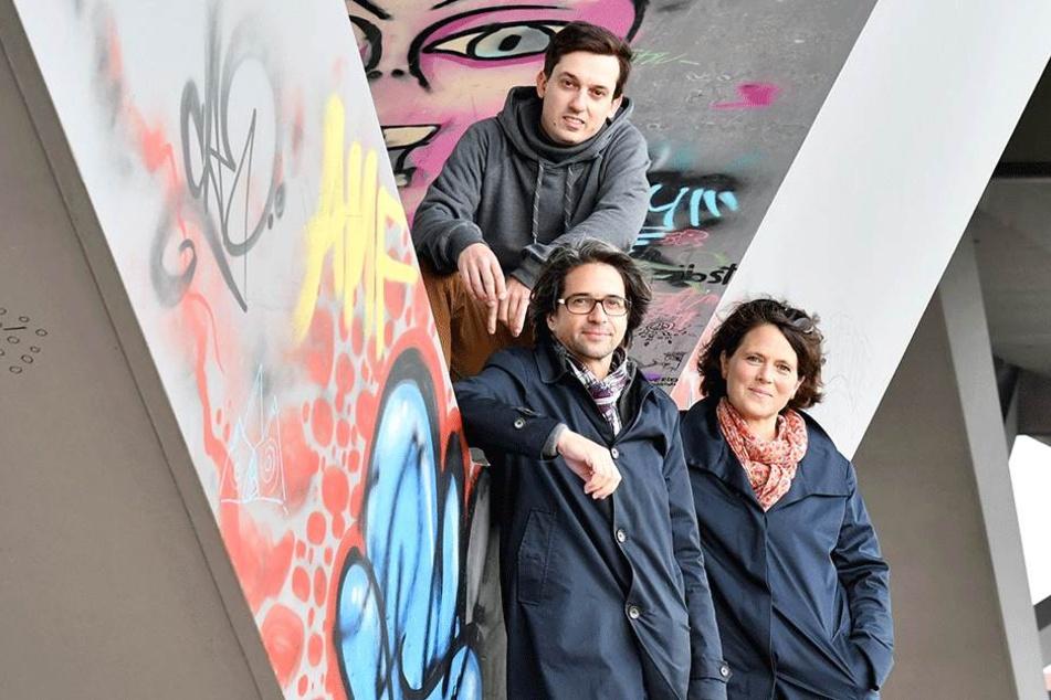 Wollen das Projekt ins Rollen bringen: Markus Weber (30), Benjamin Grill (48)  und Pamela Jäger (46, v.l.).
