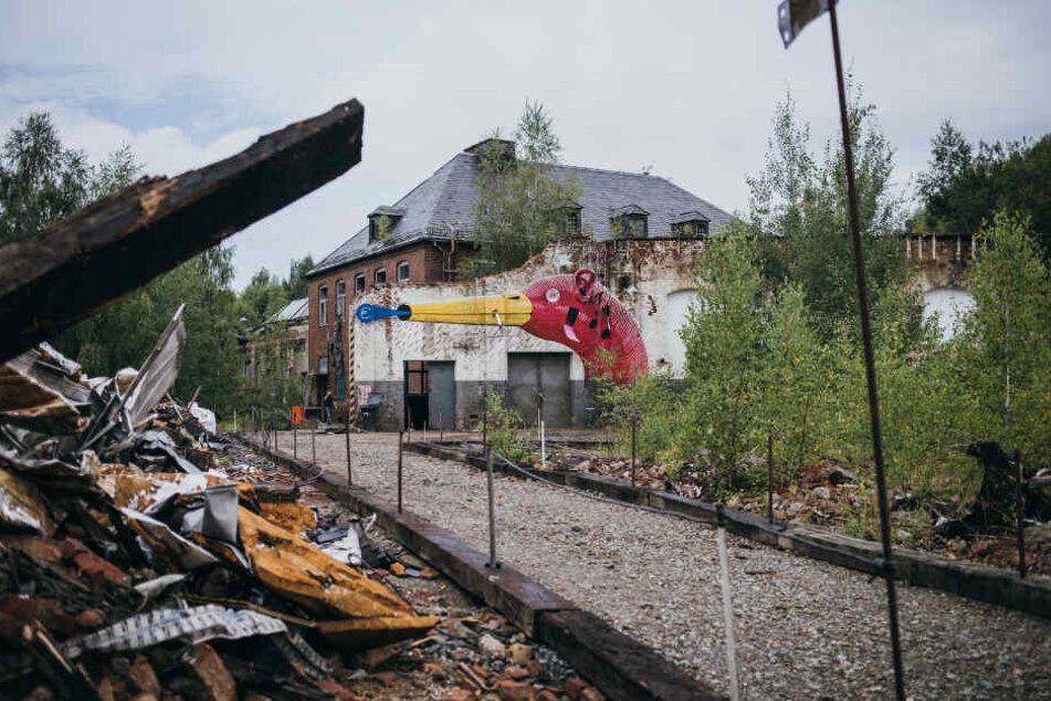 Die 14. Industriebrachenumgestaltung (ibug) hat im Bahnbetriebswerk Reichenbach Gestalt angenommen.